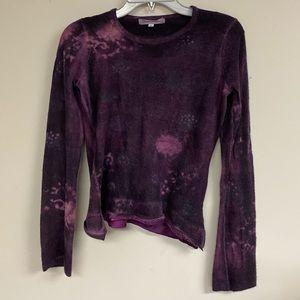 Marika Charles Size 3 Cashmere Tie Dye Sweater